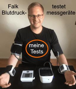 Falk testet live und in Farbe diverse Blutdruckmessgeräte Test