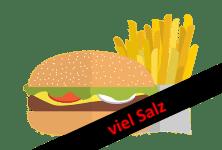 Fast Food - zu viel Salz