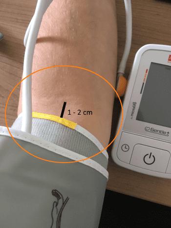 Aponorm Basic Control - Manschette anlegen